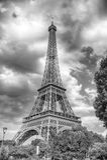 Πύργος του Άιφελ στο ηλιοβασίλεμα στο Παρίσι, Γαλλία HDR Ρομαντικό BA ταξιδιού Στοκ φωτογραφία με δικαίωμα ελεύθερης χρήσης