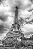 Πύργος του Άιφελ στο ηλιοβασίλεμα στο Παρίσι, Γαλλία HDR Ρομαντικό BA ταξιδιού Στοκ Εικόνες