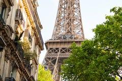 Πύργος του Άιφελ, Παρίσι, Γαλλία, που περιβάλλεται από το θερινό φύλλωμα Στοκ Εικόνες