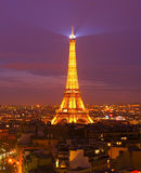 Πύργος του Άιφελ στο σούρουπο, Παρίσι Στοκ Φωτογραφία
