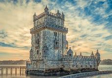 πύργος του Βηθλεέμ Λισσαβώνα Πορτογαλία Στοκ φωτογραφίες με δικαίωμα ελεύθερης χρήσης