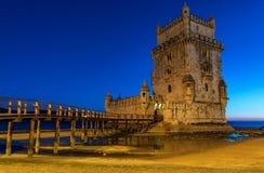 Πύργος του Βηθλεέμ στη Λισσαβώνα, Porutgal Στοκ Εικόνες