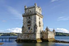 Πύργος του Βηθλεέμ Λισσαβώνα, Πορτογαλία Στοκ φωτογραφία με δικαίωμα ελεύθερης χρήσης
