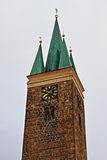 Πύργος του ιερού πνεύματος σε Telc Στοκ Φωτογραφία