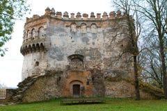 Πύργος του κάστρου εάν Ostrog, Ουκρανία Στοκ φωτογραφία με δικαίωμα ελεύθερης χρήσης