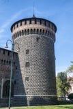 Πύργος του κάστρου στο Μιλάνο στοκ εικόνες