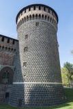 Πύργος του κάστρου στο Μιλάνο στοκ φωτογραφία