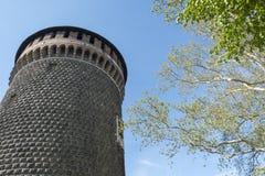 Πύργος του κάστρου στο Μιλάνο στοκ φωτογραφίες με δικαίωμα ελεύθερης χρήσης