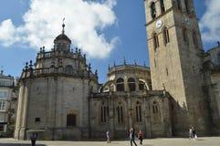 Πύργος του καθεδρικού ναού του ναού Santa MarÃa που κρατά το προνόμιο της μόνιμης έκθεσης του ευλογημένου μυστηρίου μέσα στοκ φωτογραφία με δικαίωμα ελεύθερης χρήσης
