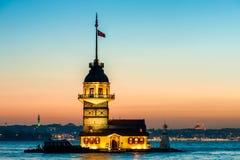 Πύργος του κοριτσιού της Ιστανμπούλ Στοκ Εικόνες