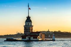 Πύργος του κοριτσιού της Ιστανμπούλ Στοκ φωτογραφίες με δικαίωμα ελεύθερης χρήσης