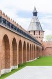 Πύργος του Κρεμλίνου, ο τοίχος του Κρεμλίνου Στοκ Εικόνες