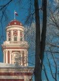 Πύργος του κτηρίου Petrina ακαδημαϊκού κόσμου σε Jelgava Λετονία Στοκ εικόνες με δικαίωμα ελεύθερης χρήσης