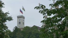 Πύργος του Λουμπλιάνα Castle απόθεμα βίντεο