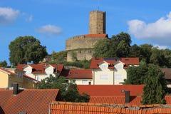 Πύργος του μεσαιωνικού ενισχυμένου κάστρου Steinsberg, Sinsheim, Γερμανία Στοκ εικόνα με δικαίωμα ελεύθερης χρήσης