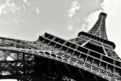 Πύργος του Παρισιού Άιφελ γραπτός Στοκ φωτογραφία με δικαίωμα ελεύθερης χρήσης