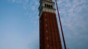 Πύργος του σημαδιού Αγίου στη Βενετία απόθεμα βίντεο