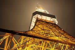 Πύργος του Τόκιο στην υδρονέφωση Στοκ εικόνες με δικαίωμα ελεύθερης χρήσης