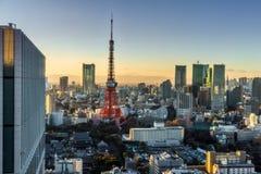 Πύργος του Τόκιο στο ηλιοβασίλεμα στοκ εικόνες