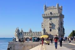 Πύργος του Castle στη Λισσαβώνα, Πορτογαλία Στοκ Εικόνα