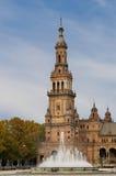 Πύργος του Plaza της Ισπανίας στη Σεβίλη Στοκ φωτογραφία με δικαίωμα ελεύθερης χρήσης