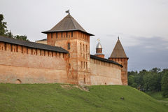 Πύργος του Zlatoust, Kokui και μεσολάβησης σε Novgorod ο μεγάλος (Veliky Novgorod) Ρωσία Στοκ Εικόνες