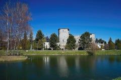 Πύργος το μεγάλο Castle Liptovsky Hradok στη Σλοβακία στοκ φωτογραφία με δικαίωμα ελεύθερης χρήσης