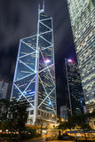 Πύργος Τράπεζας της Κίνας στο Χονγκ Κονγκ Στοκ φωτογραφίες με δικαίωμα ελεύθερης χρήσης