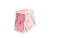 Πύργος των καρτών Στοκ εικόνα με δικαίωμα ελεύθερης χρήσης