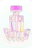 Πύργος των ξύλινων τούβλων παιχνιδιών στοκ φωτογραφία