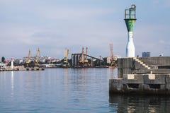 Πύργος φάρων στο λιμένα Burgas Στοκ Εικόνες