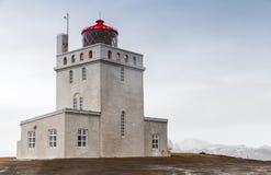 Πύργος φάρων της Ισλανδίας, Dyrholaey, περιοχή Vik Στοκ Εικόνες