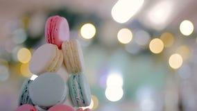 Πύργος Χριστουγέννων macaron απόθεμα βίντεο