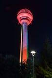 Πύργος ψυχαγωγίας στην Άγκυρα Τουρκία τη νύχτα Στοκ εικόνες με δικαίωμα ελεύθερης χρήσης