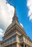 Πύργος Antonelliana τυφλοπόντικων, το σύμβολο του Τορίνου, Ιταλία Στοκ Φωτογραφίες