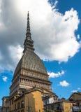 Πύργος Antonelliana τυφλοπόντικων, το σύμβολο του Τορίνου, Ιταλία Στοκ Εικόνες