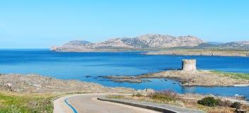 Πύργος Aragonese και μπλε θάλασσα Στοκ Εικόνα