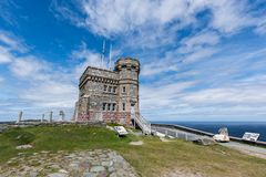Πύργος Cabot στο Hill σημάτων, ST John ` s, νέα γη στοκ φωτογραφίες με δικαίωμα ελεύθερης χρήσης