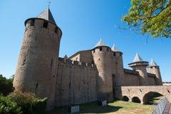 Πύργος comtale στο Carcassonne, Γαλλία στοκ εικόνα