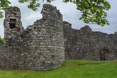 Πύργος Comyn Inverloch Castle, Σκωτία Στοκ Φωτογραφίες