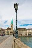 Πύργος Fraumunster στη Ζυρίχη Εκκλησία Fraumunster, από ΧΙΙΙ centu Στοκ φωτογραφίες με δικαίωμα ελεύθερης χρήσης