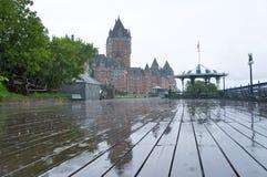 Πύργος Frontenac μια βροχερή ημέρα Στοκ φωτογραφία με δικαίωμα ελεύθερης χρήσης