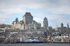 Πύργος Frontenac που αντιμετωπίζεται από τη St Laurent, πόλη του Κεμπέκ, Quebe Στοκ Εικόνες