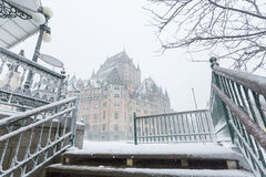 Πύργος Frontenac πόλεων του Κεμπέκ Στοκ φωτογραφία με δικαίωμα ελεύθερης χρήσης