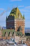 Πύργος Frontenac το χειμώνα Στοκ Εικόνες