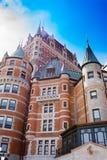 Πύργος Frontenac Castle ξενοδοχείων του Καναδά πόλεων του Κεμπέκ Στοκ Φωτογραφίες