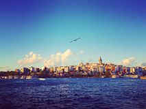 Πύργος Galata, η νέα πόλη της Ιστανμπούλ Στοκ Φωτογραφίες