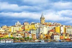 Πύργος Galata, Ιστανμπούλ, Τουρκία Στοκ Εικόνες