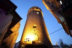 Πύργος Galata τη νύχτα Στοκ φωτογραφία με δικαίωμα ελεύθερης χρήσης