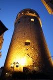 Πύργος Galata τη νύχτα Στοκ Φωτογραφίες